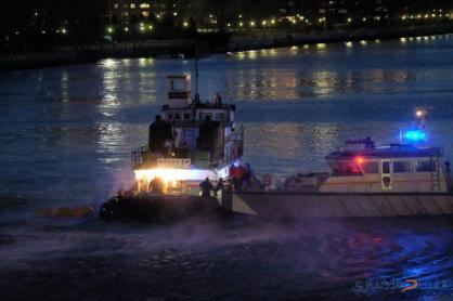 سقوط طائرة مروحية في نهر ومصرع 5 أشخاص