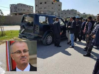 استهداف موكب رئيس الوزراء الفلسطيني في غزة..